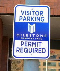Informational Signs 5b7da4575cf4b custom parking outdoor metal traffic sign safety wayfinding 256x300