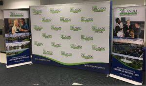 Printed Backdrops indoor banner tradeshow display vinyl mural backdrop 300x177